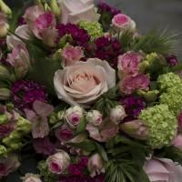 Bouquet de deuil pastel