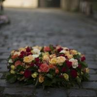 Couronne mortuaire chatoyante
