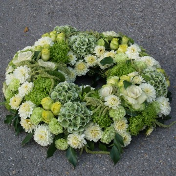 Couronne funéraire verte